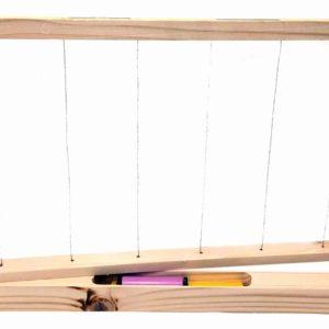 telaio nido con supporto di legno per nascondere l'antifurto
